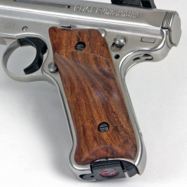 Ruger Mark II GENUINE WALNUT Panel Grips - SMOOTH Pronounced Thumbrest