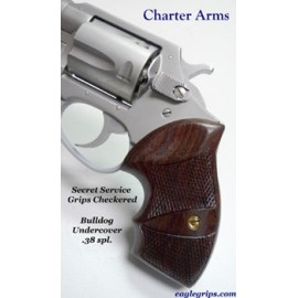 Charter Arms Bulldog Rosewood Secret Service Grips - CHECKERED