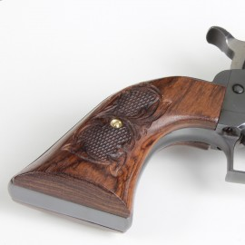 Ruger Super Blackhawk Rosewood Panel Grips - Checkered Scroll