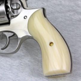 Ruger Redhawk Round Butt Kirinite Ivory Panel Grips - SMOOTH