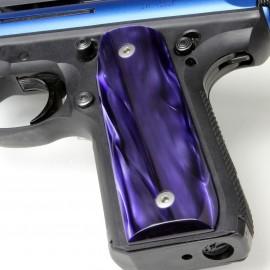 Ruger 22/45 .22LR - Purple Perfection Kirinite Pistol Grips