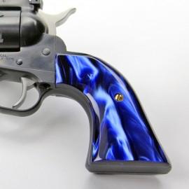 Ruger Redhawk Round Butt Kirinite Blue Pearl Panel Grips Smooth
