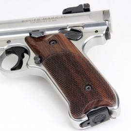 Ruger Mark IV Indian Rosewood Left Handed Thumbrest Grips