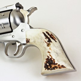 """Ruger """"Old"""" Vaquero Sambar Stag Traditional Grips"""