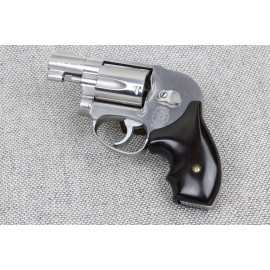 S&W J frame round butt - GENUINE EBONY Secret Service Grips - SMOOTH