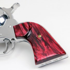 "Ruger ""Old"" Vaquero Kirinite Red Pearl Gunfighter Grips"
