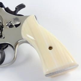 S&W K/L Frame Square Butt Kirinite Ivory Grips