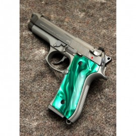 Beretta 92/M9 Series Kirinite Green Pearl Grips