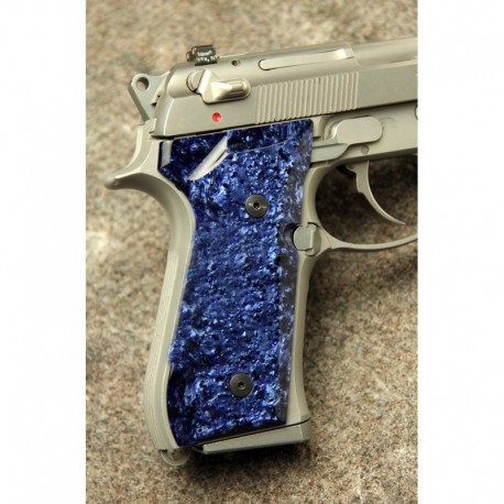 Beretta 92/M9 Series Kirinite Blue Ice Grips