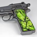 Beretta 92/M9 Series Kirinite® Toxic Green Grips