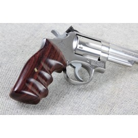 S&W N Frame Square Butt - Walnut Combat Contour Grips - SMOOTH
