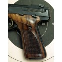 Browning Buckmark GENUINE ROSEWOOD Thumbrest Grips - CHECKERED