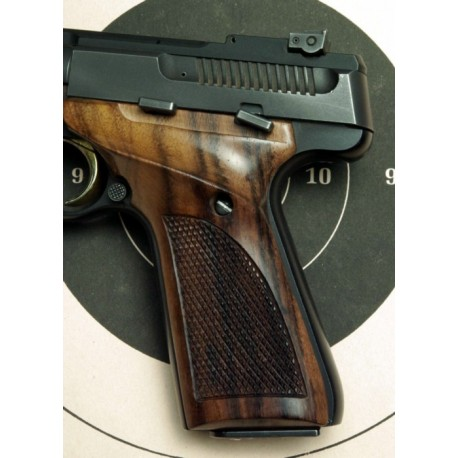 Browning Buckmark and Challenger Thumbrest Checkered Rosewood Grips