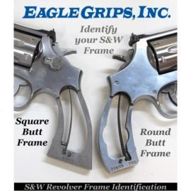 S&W J Frame Square Butt - Kirinite Black Pearl Revolver Grips