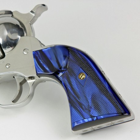 Ruger NEW Vaquero Blue Kirinite Gunfighter Grips