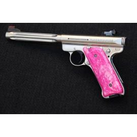Ruger MKII Pink Kirinite Grips