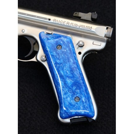 Ruger MKII Blue Kirinite Grips
