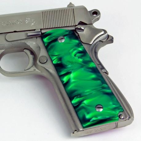 Kirinite™ GREEN PEARL Grips for the Colt 1911
