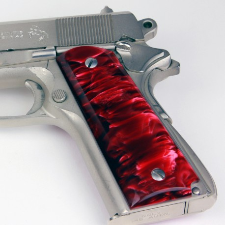 Kirinite™ RED PEARL Grips for the Colt 1911