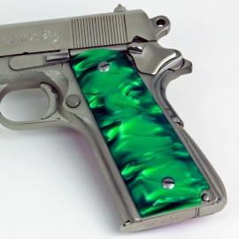1911 Officer's Compact Kirinite® Green Pearl Grips