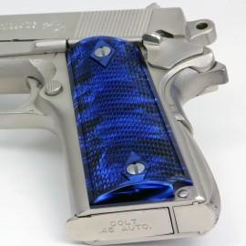 Kirinite™ SAPPHIRE BLUE Grips for the Colt 1911