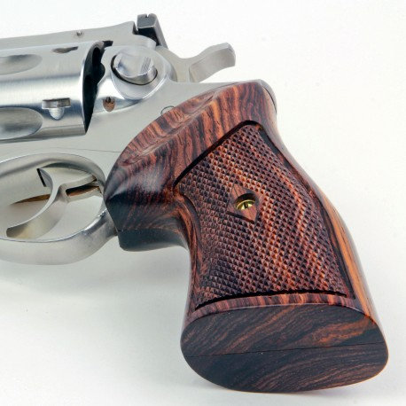 Ruger GP 100 & Super Redhawk - Checkered Cocobolo CLASSIC Grips