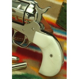Ruger Birdshead White Gunfighter Grips Checkered