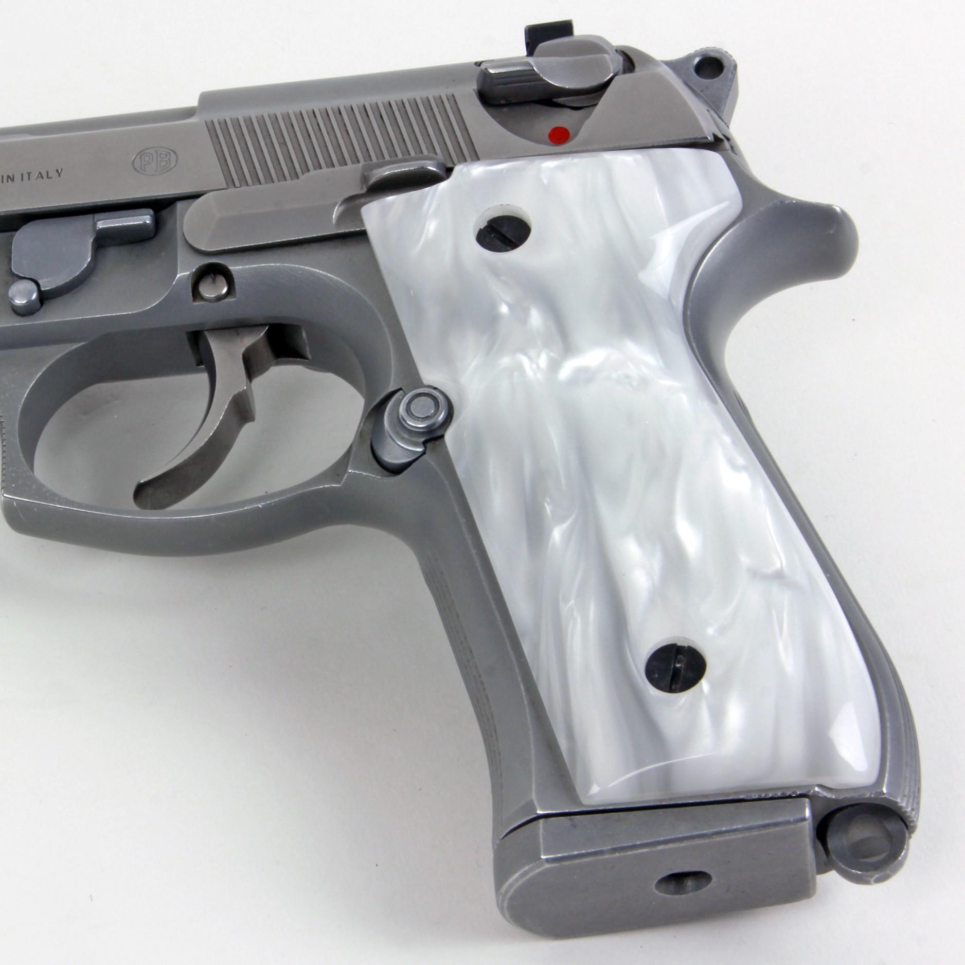 Beretta 92 M9 Series Kirinite White Pearl Grips