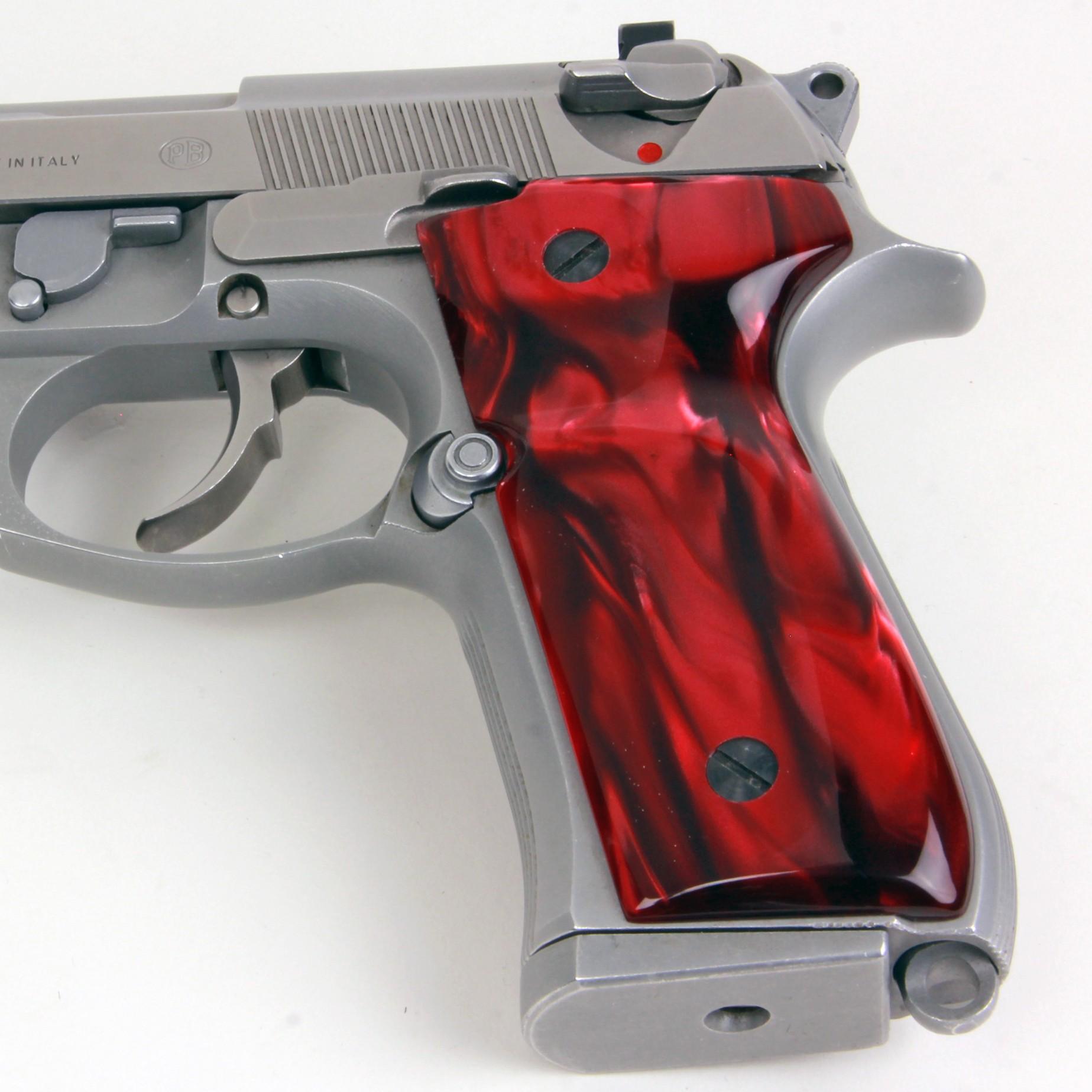 Beretta 92 M9 Series Kirinite Red Pearl Grips
