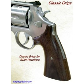 S&W Classic K/L Frame Round Butt Rosewood Grips