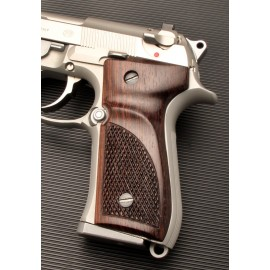 Beretta 92 Series Grips Rosewood Checkered