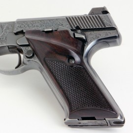 Colt Woodsman 2nd Gen. Right Handed Thumbrest East Indian Rosewood Grips Checkered