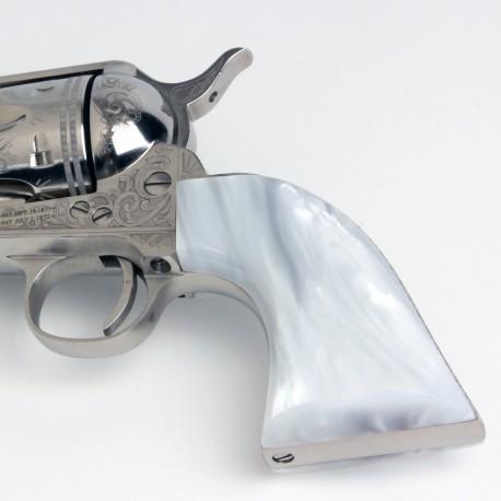 Colt SAA White Ultra Pearl Grips