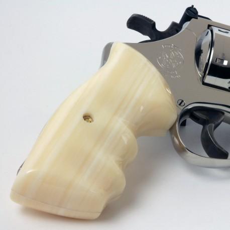 S&W K/L Frame Square Butt Kirinite® Ivory Combat Contour Grips