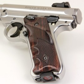 Ruger Mark IV Rosewood Checkered Right Handed Thumbrest