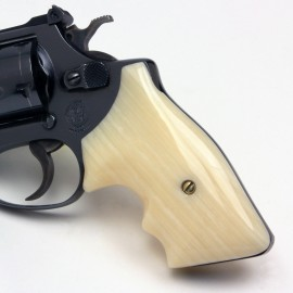 S&W J Frame Square Butt Kirinite® Ivory Secret Service Grips