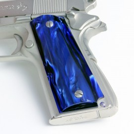 Kirinite™ Deep Blue Pearl Grips for the Colt 1911