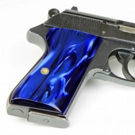 Walther PPK/S .22lr. Deep Blue Pearl Kirinite Grips