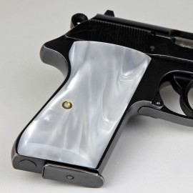 Walther PPK/S by Interarms Kirinite® White Pearl Pistol Grips