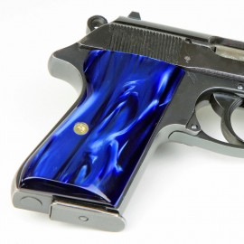 Walther PPK/S by Interarms Blue Pearl Grips