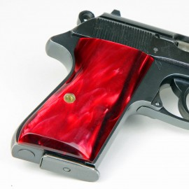 Walther PPK/S by Interarms Kirinite® Red Pearl Pistol Grips