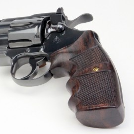 Colt Python & Official Police Finger Position Rosewood Checkered Grips