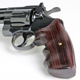 Colt Python & Official Police Finger Position Rosewood Grips Smooth