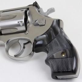 S&W N Frame Round Butt Secret Service Kirinite® Black Pearl Grips