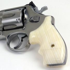 S&W K/L Frame Round Butt Secret Service Kirinite® Ivory Grips