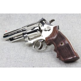 S&W K/L Frame Square Butt - GENUINE ROSEWOOD Finger Position Grips - CHECKERED