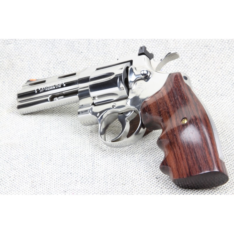 S&W K/L Frame Round Butt - GENUINE ROSEWOOD Finger Position - SMOOTH