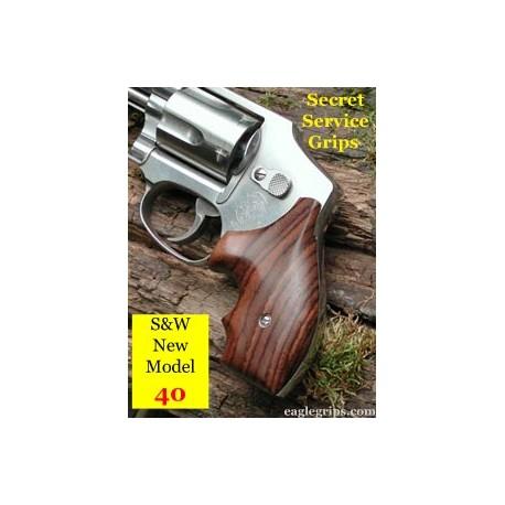 "S&W ""MODEL 40"" J Round Frame Secret Service Rosewood Grips"
