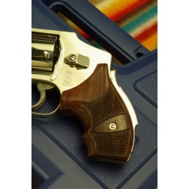 "S&W ""Model 40"" - GENUINE ROSEWOOD Secret Service Grips - CHECKERED"